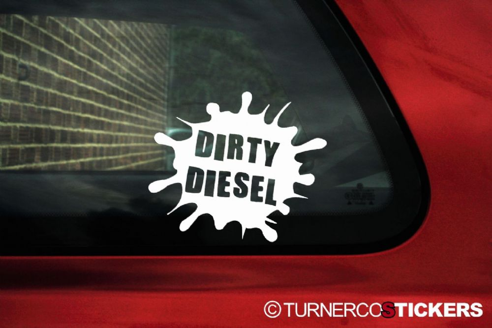 Vw Diesel Truck >> Dirty Diesel funny sticker decal Ideal for VW Bora Lupo golf Mk4 Passat TDI GTD Turbo Diesel
